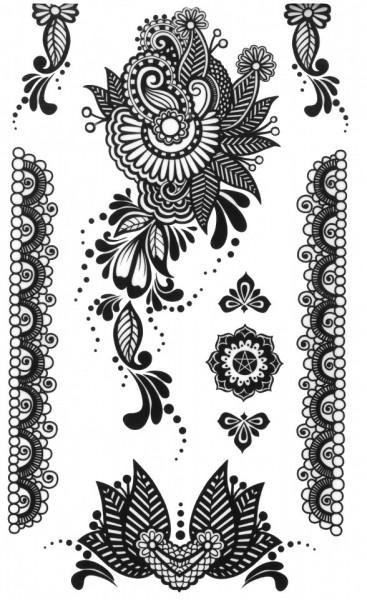 Tatuaj temporar -petale- 10x17cm