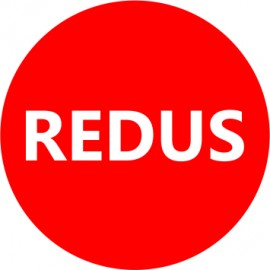Etichete personalizate cu REDUS, 100 buc, PVC, rezistente la apa