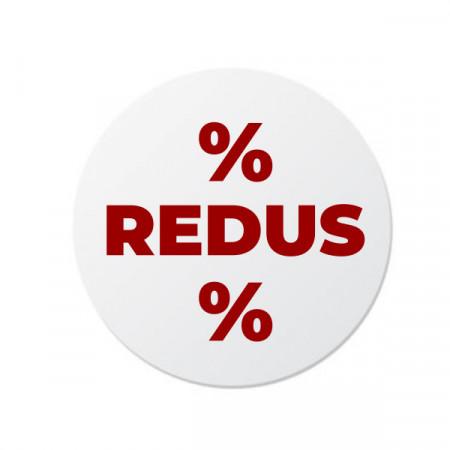 Etichete personalizate REDUS, 100 buc, PVC, rezistente la apa