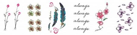 Set 6 tatuaje temporare -fly for love- 9x5cm