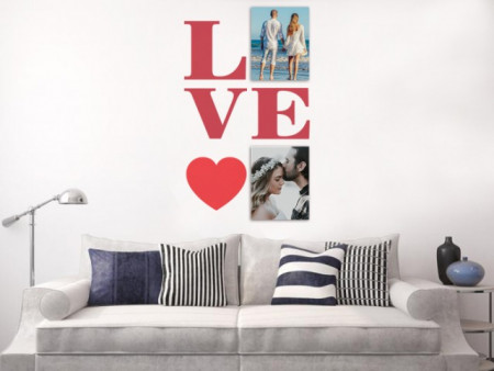 Sticker si canvas - Love