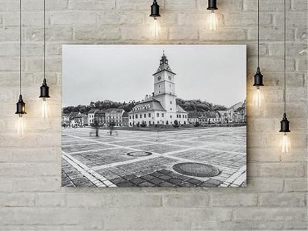 Tablou Canvas Brasov in alb si negru