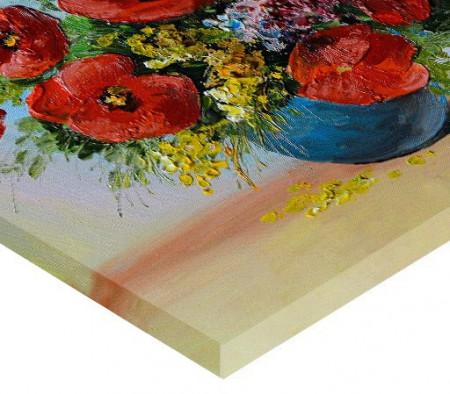 Tablou canvas efect pictura - Vaza cu maci