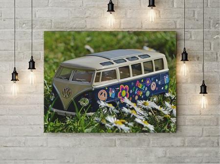 Tablou Canvas Flower Power Van