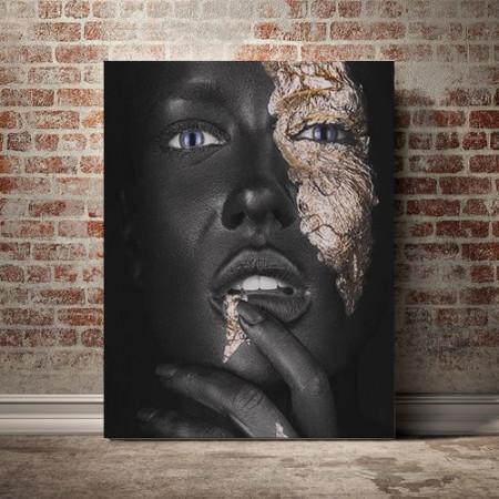 Tablou Canvas Golden Patches 1