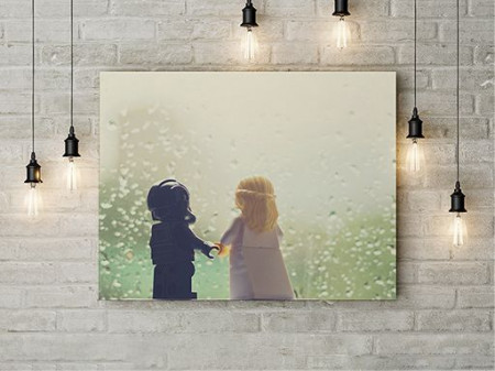 Tablou Canvas Lego Love