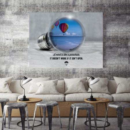 Tablou motivational - A mind is like a parachute