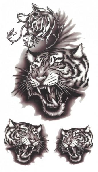 Tatuaj temporar -cap de tigru- 17x10cm