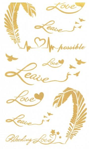 Tatuaj temporar -leave love- 17x10cm