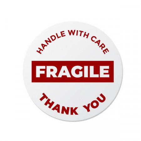 Etichete personalizate FRAGILE 2, 100 buc, PVC, rezistente la apa