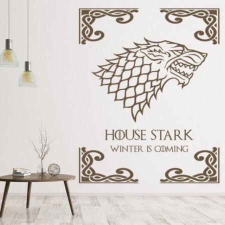 Sticker House Stark Game Of Thrones