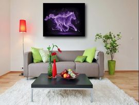 Poze Tablou canvas - abstract cal mov