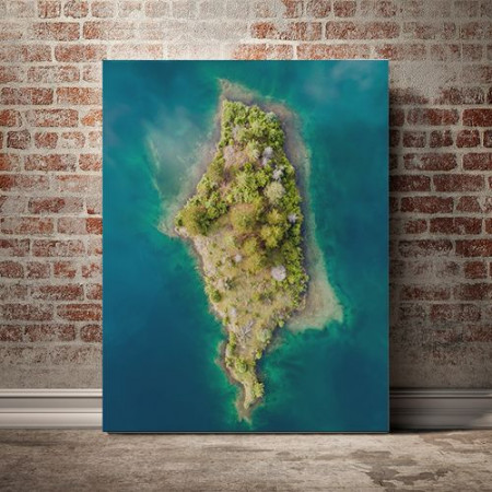 Tablou Canvas Deasupra insulei