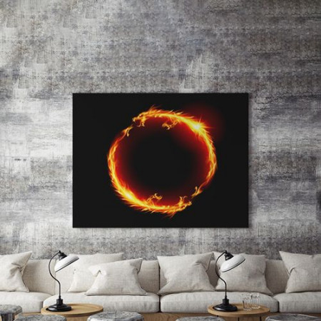 Tablou Canvas Dragoni de Foc