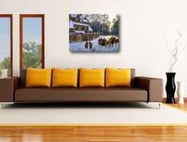 Poze Tablou canvas efect painting - iarna 01