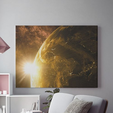 Tablou Canvas Golden sunrise