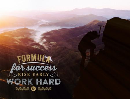 Tablou motivational - Formula for success