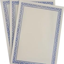 Diploma A4 tipizat cu folio argintiu si albastru, 10 bucati