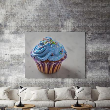 Tablou Canvas Blue Cupcake