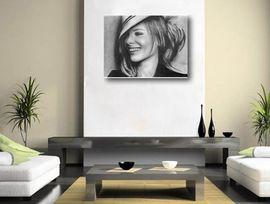 Tablou canvas efect painting - portret