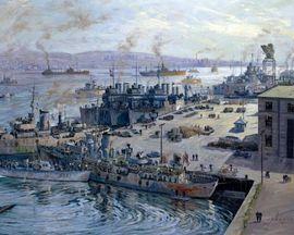 Tablou canvas efect painting - Port
