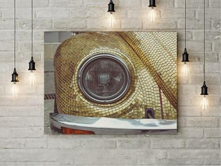 Tablou Canvas Golden Car