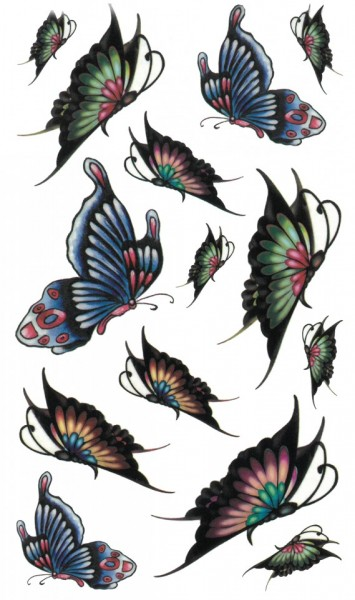 Tatuaj temporar -colorful butterflies- 17x10cm