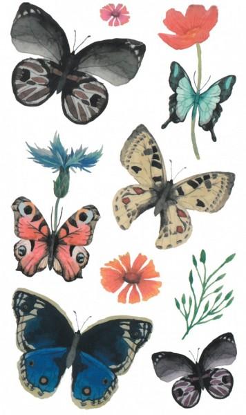 Tatuaj temporar -fluturi pictati- 17x10cm