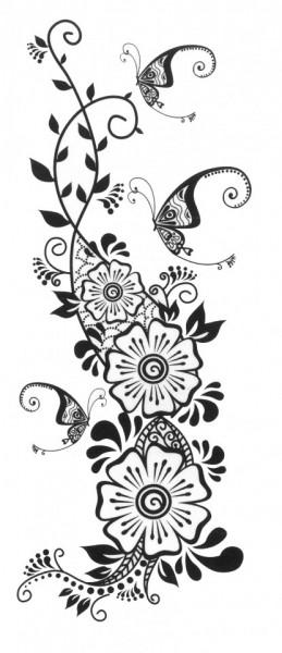 Tatuaj temporar -ghirlanda- 6x15cm