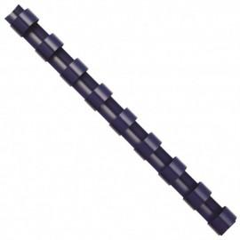 Inele din plastic pentru indosariere 6 / 8 / 10 / 12 mm, negre, 100buc