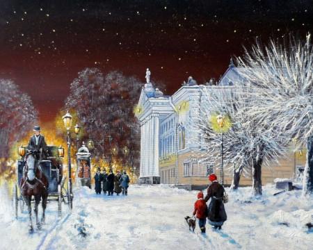 Peisaj de iarna seara
