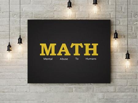 Tablou Canvas Abusive Math