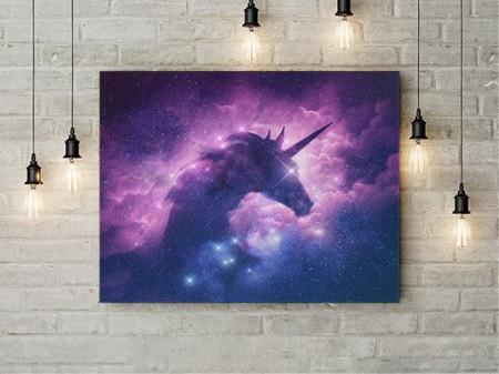 Tablou Canvas Galaxy Unicorn