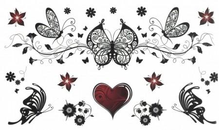 Tatuaj temporar -butterfly- 10x17cm