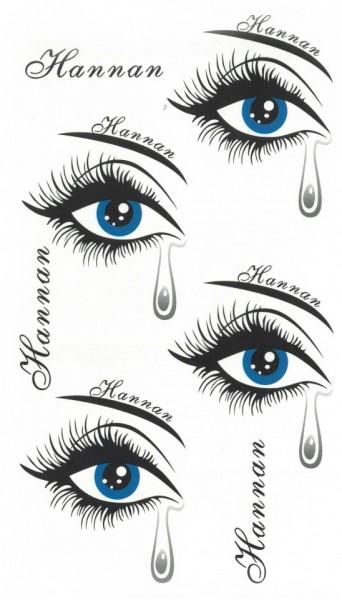 Tatuaj temporar -ochi- 10x17cm