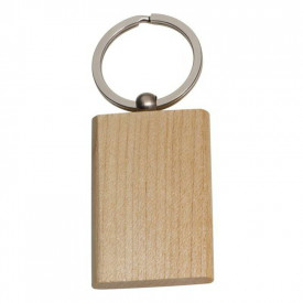 Breloc din lemn dreptunghi - personalizata cu logo - 0645