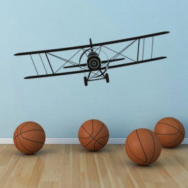Flying Biplane Airplane Aircraft
