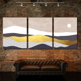 Set tablouri canvas - Sun above the abstract desert