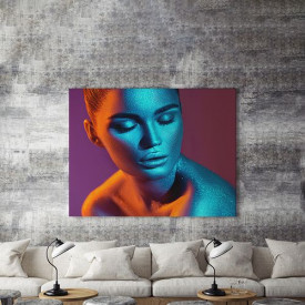 Tablou Canvas Blue Glitter