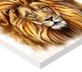 Tablou canvas efect pictura - Leul puternic