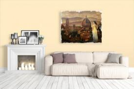 Tablou canvas efect pictura - Peisaj exotic