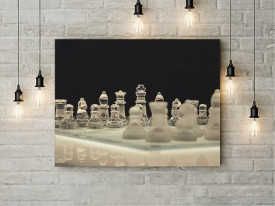 Tablou Canvas Glass chess