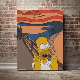 Tablou Canvas The Scream - Homer