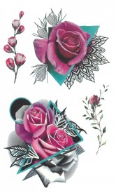 Tatuaj temporar -beautiful roses- 17x10cm