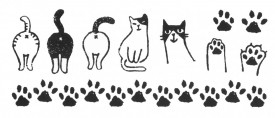 Tatuaj temporar -pisici- 7x15cm