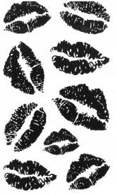 Tatuaj temporar -black lips- 17x10cm