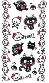 Tatuaj temporar -pisici zombie- 17x10cm