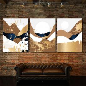 Set tablouri canvas - Golden autumn abstract landcsape