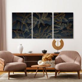 Set tablouri canvas - Golden olive branches