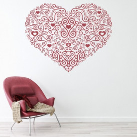 Sticker Heart Centrepiece Spiral Love